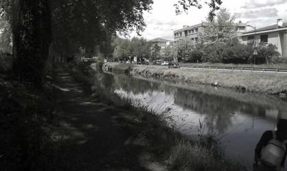 Canal du midi en centre ville de Toulouse